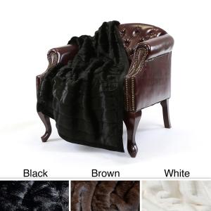 Overstock.com Black Faux Mink $61.99